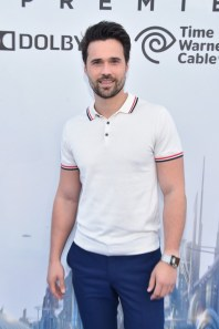 "ANAHEIM, CA - MAY 09: Actor Brett Dalton attends the world premiere of Disney's ""Tomorrowland"" at Disneyland, Anaheim on May 9, 2015 in Anaheim, California. (Photo by Alberto E. Rodriguez/Getty Images for Disney) *** Local Caption *** Brett Dalton"