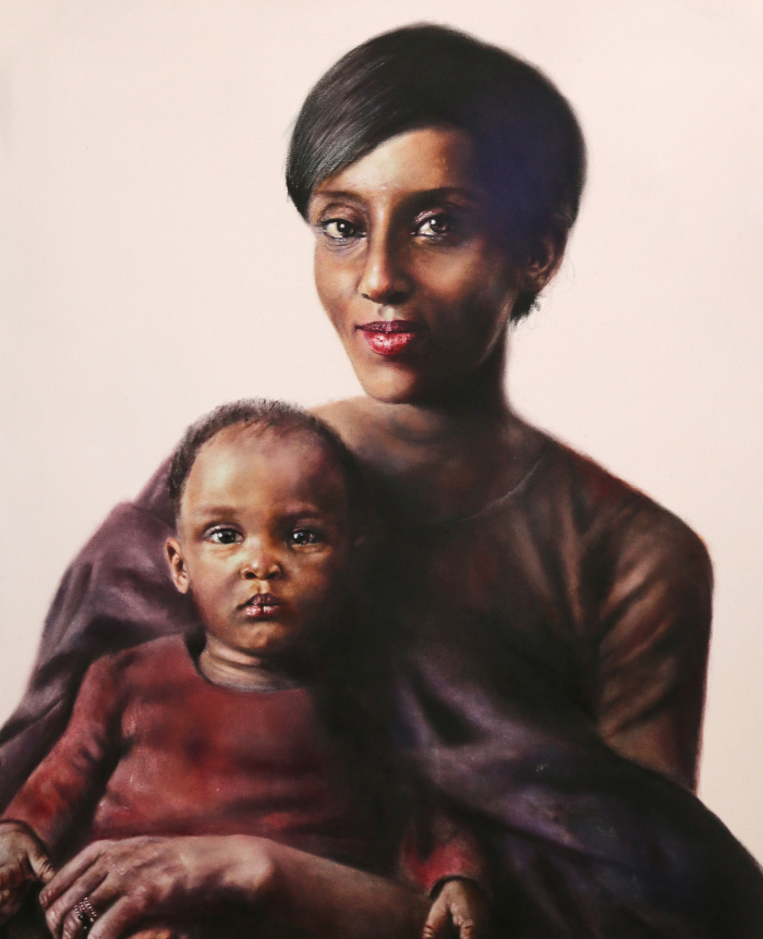 Portrait of Miriam Ibraheem and her daughter, Maya