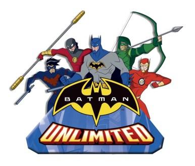 Batman Unlimited Logo with Character Art