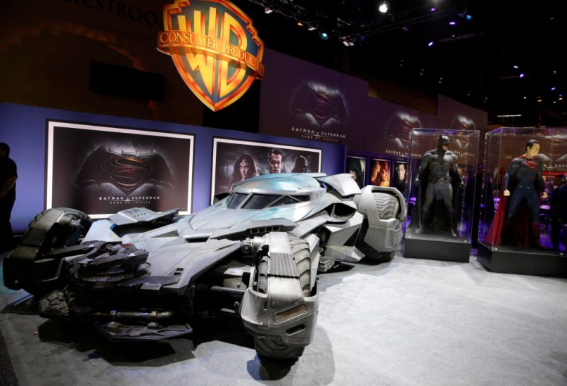 The Batmobile from Batman v Superman: Dawn of Justice--side view