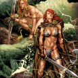 Cover from Swords of Sorrow: Red Sonja/Jungle Girl by Jay Anacleto