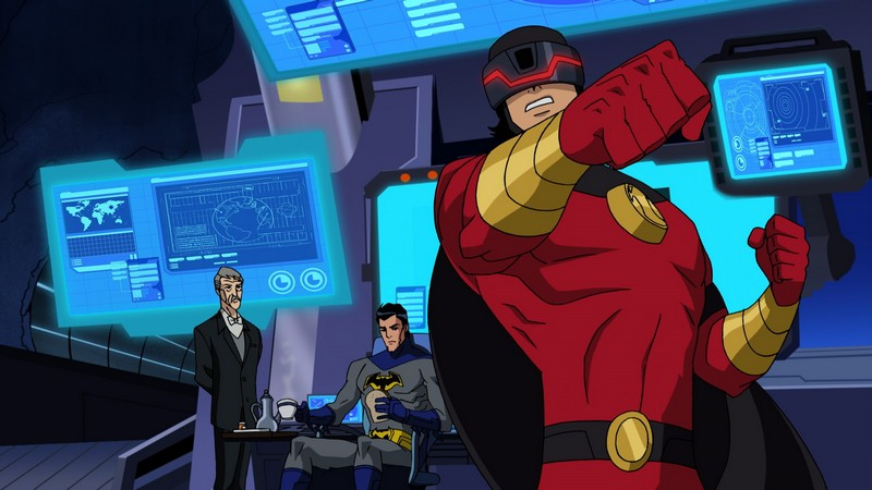 The computer-filled Batcave in Batman Unlimited: Monster Mayhem