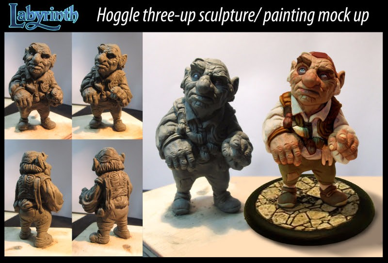 Hoggle three-up sculpture/painted from River Horse