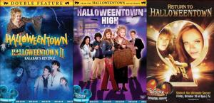Movie posters for Halloweentown series