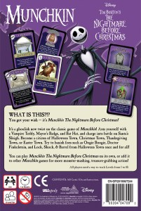 Back Box Cover to Nightmare Before Christmas Munchkin Game