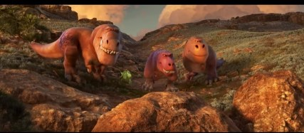 T Rexes and Arlo in The Good Dinosaur clip