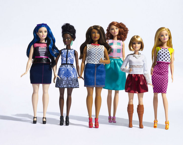 Barbie in all sizes, shapes, and colors