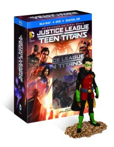 Justice League vs Teen Titans Deluxe edition with Robin figurine