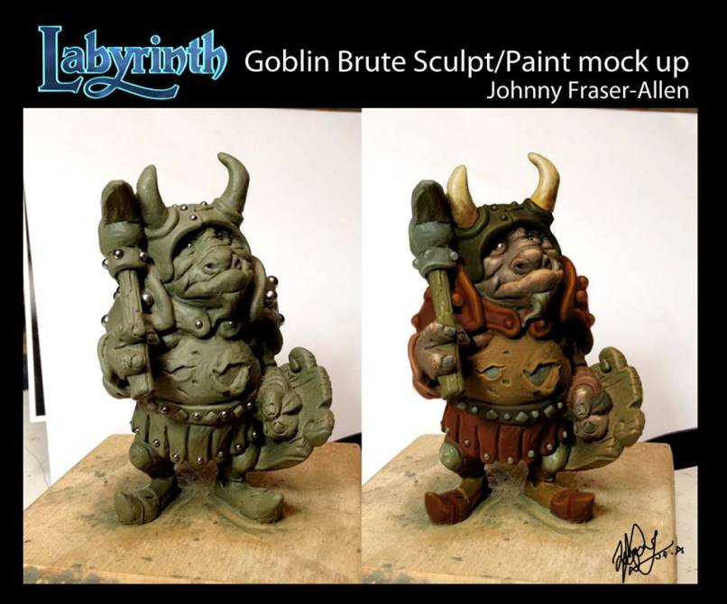 Labyrinth Board Game Goblin Brute Figure