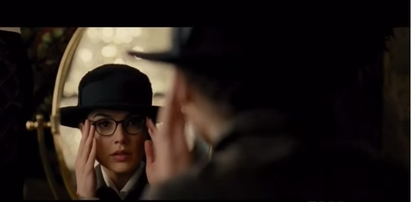 Wonder Woman as Diana Prince--in glasses
