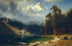 Images, like this painting by Albert Bierstadt, drew Americans westward.