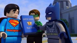 Batman shows Superman the rule book