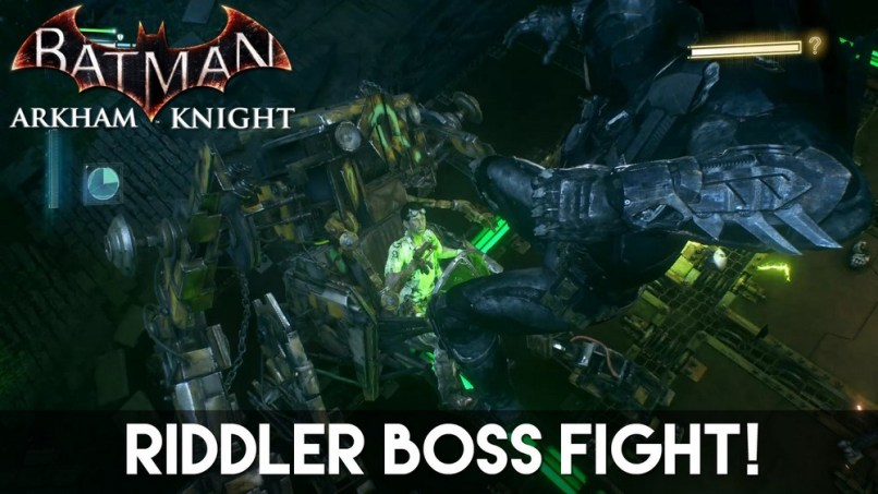 Batman Arkham Night Riddler boss Fight