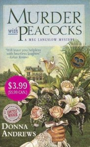 Cover for Murder with Peacocks by Donna Andrews
