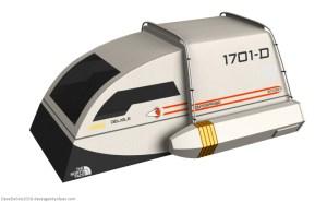 Star Trek Shuttlecraft Side View