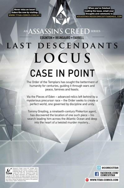 Locus #1 Credit Page