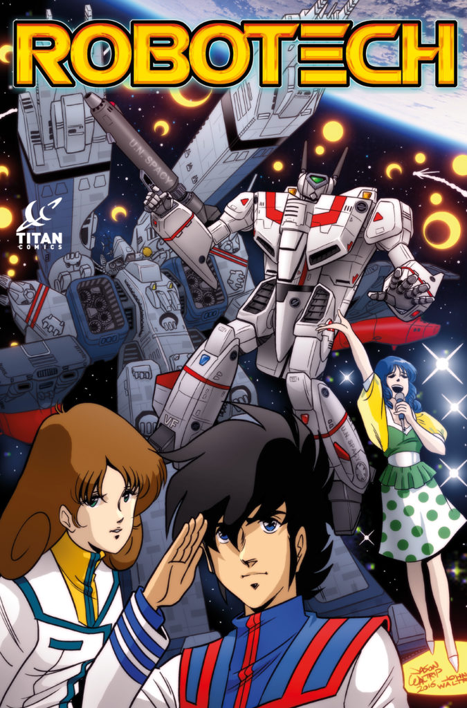 Robotech Cover from NYCC by the Waltrip Brothers