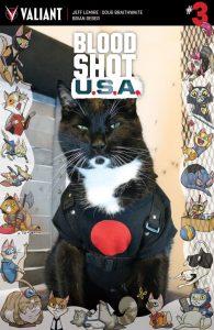 Bloodshot USA #3 Valiant Cat Cosplay Cover