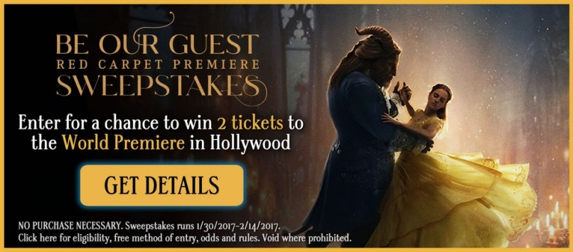Be Our Guest Beauty and the Beast Sweepstakes Entry Image and Link