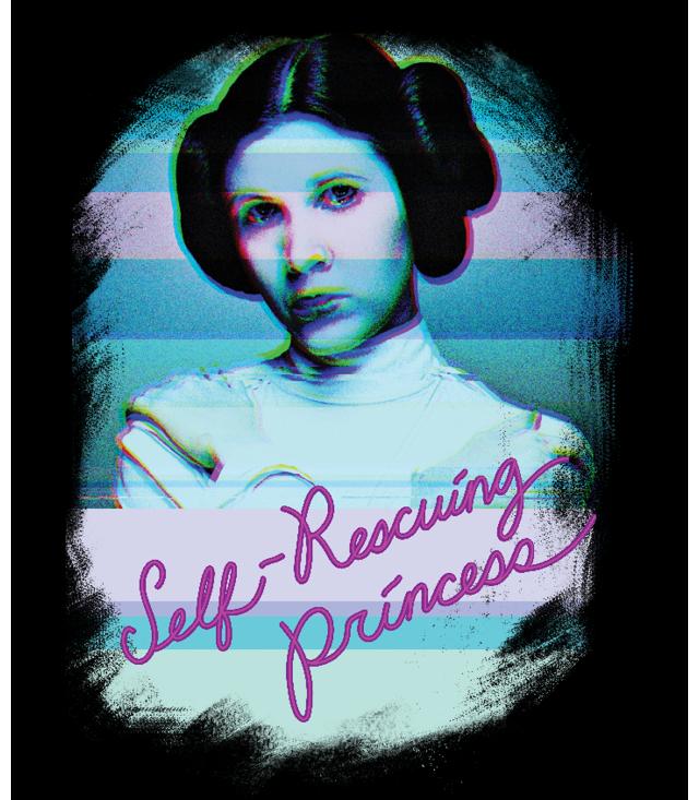 Princess Leia self-rescuing Princess Shirt