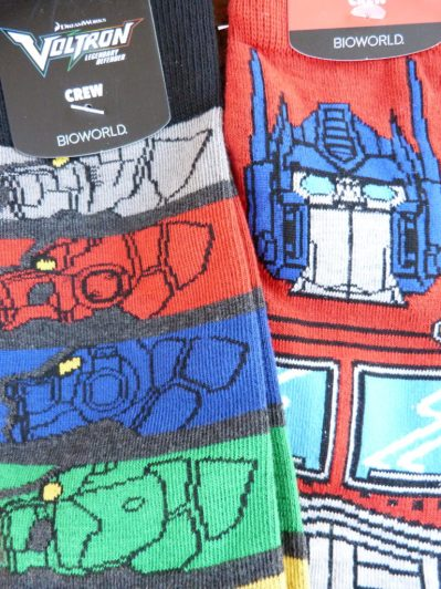 Voltron and transformer socks