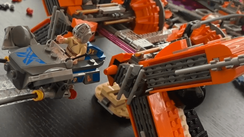 LEGO Build: Anakin and Sebulba's Podracers