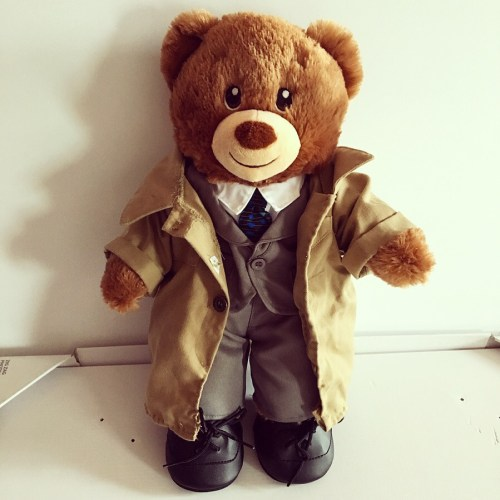 Castiel Bear of the Lord and his trenchcoat