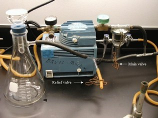 note the labeled valves: