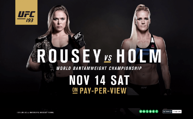 UFC® 193: Results and Bonuses