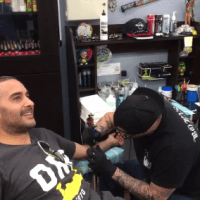 Jon Anik is a man of his word! Get's '209' tattoo following Diaz win over McGregor