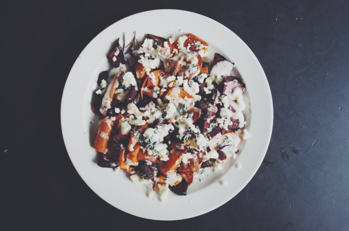 Feta and Roasted Root Vegetable Salad