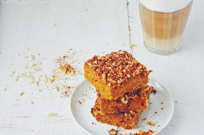 The most delicious carrot cake you'll ever encounter – vegan and gluten free carrot crumble slice