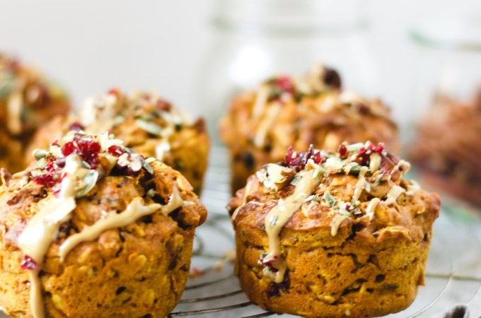 Pumpkin pecan cranberry muffins – pumpkin all day, everday!