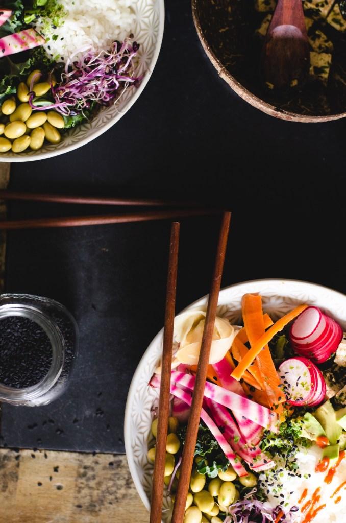 Sushi bowl - Sesame Seaweed Tofu