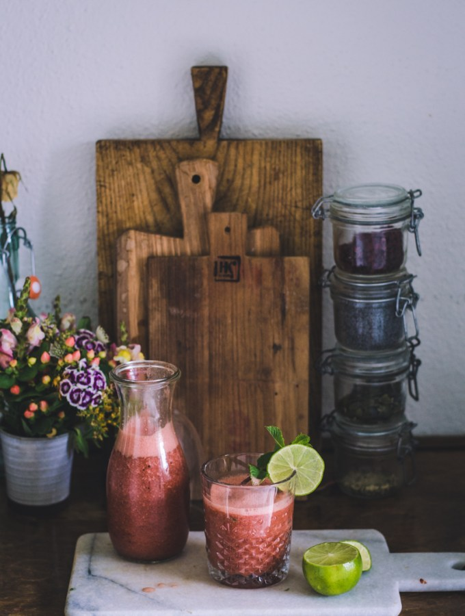 refreshing Watermelon Mint Smoothie - fannythefoodie