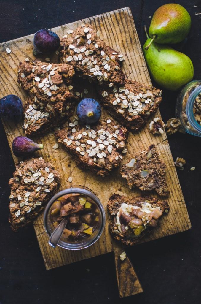 Wholewheat Spelt Autumn Scones / Fig, Pear & Walnut