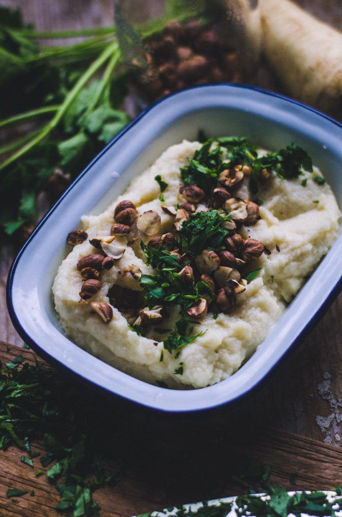 Root Veggie Mash / Cleriac, Turnip and Parsnip Root