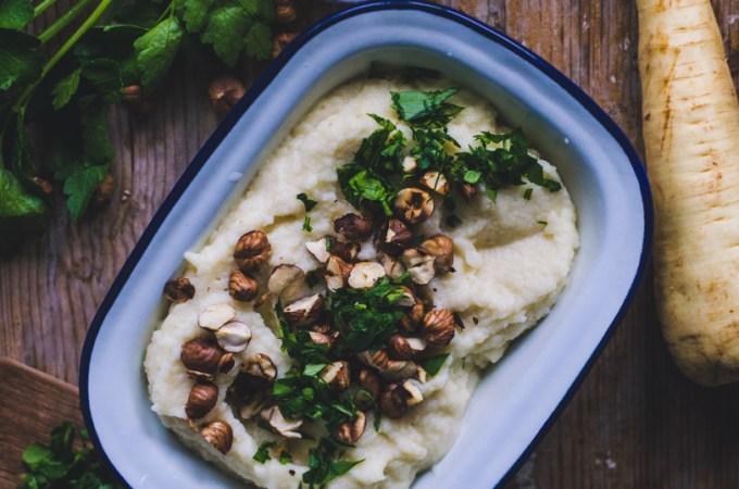 Root Veggie Mash / Cleriac, Turnip & Parsnip Root