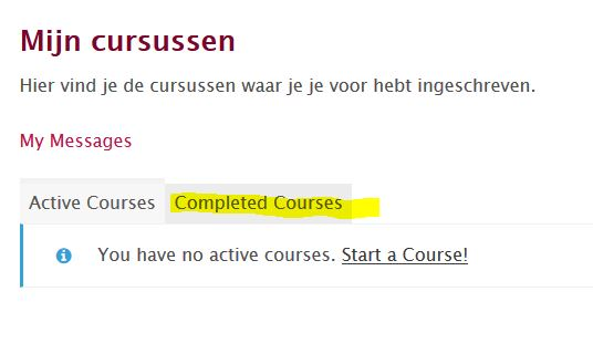 completed courses