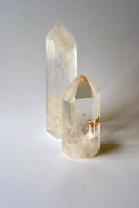 Twee punten bergkristal, door Fanny van der Horst