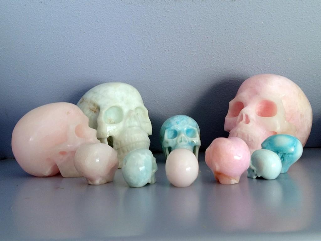 aragoniet snoepjes, kristallen schedels