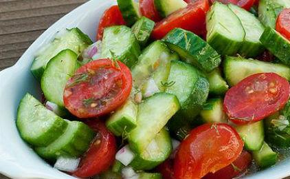 Image result for ντομάτα μαζί με αγγούρι