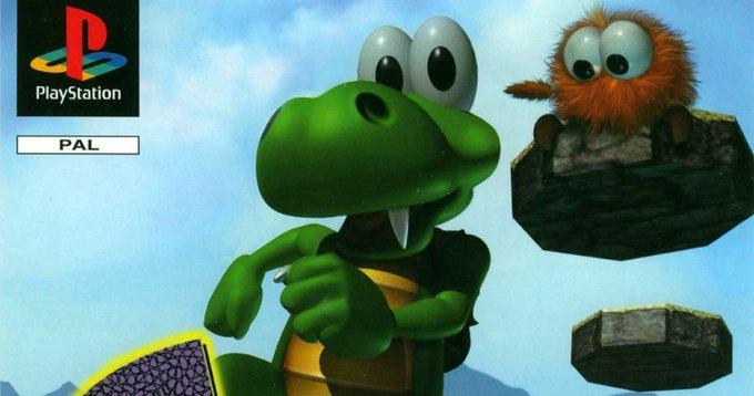 Croc TShirts PSOne Cult Platformer HungerClub News PlayStation Games Repost