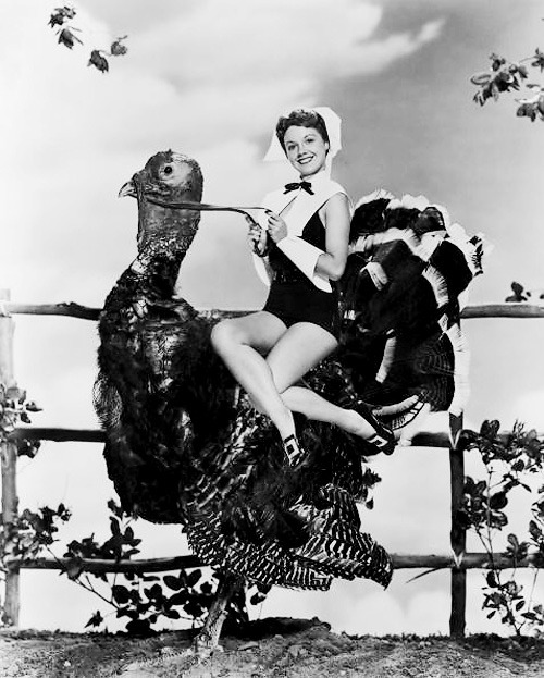 vintage photo pinup thanksgiving weird strange