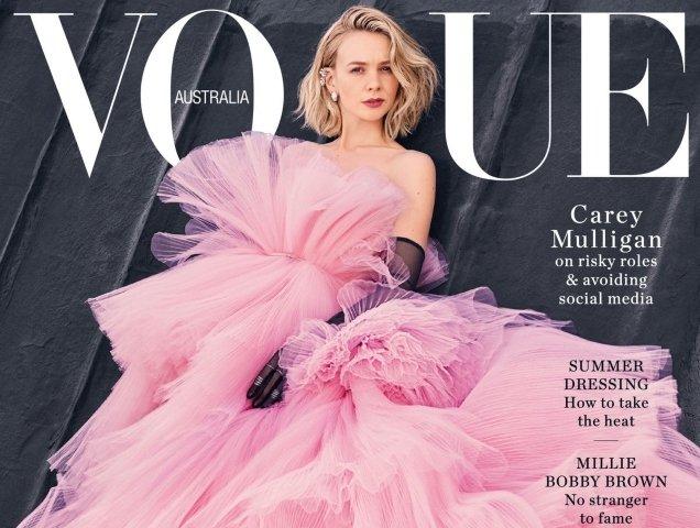 MagazineCover VogueAustralia CareyMulligan ForumBuzz Emma