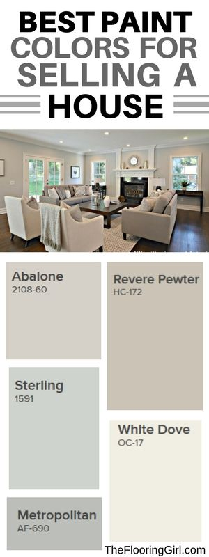 Choosing a light fresh shade of paint can make your space look larger, more cohesive and neutral enough to help buyers envision themselves living there