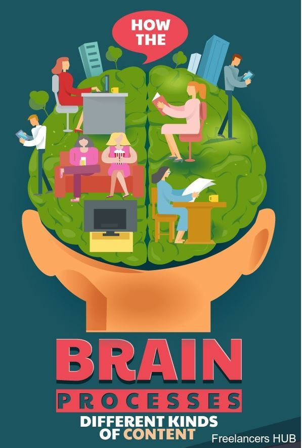How the Brain Processes Different Kinds of Content - Infographic  #marketing #smm