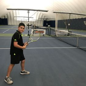 Matteo at The Tennis Academy Summer Camp