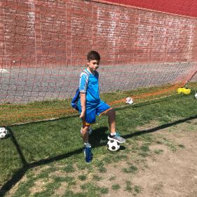 Lucca at Calgary Rangers Soccer Summer Camp