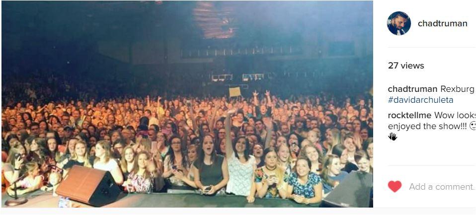 RExburg chad truman IG crowd vid
